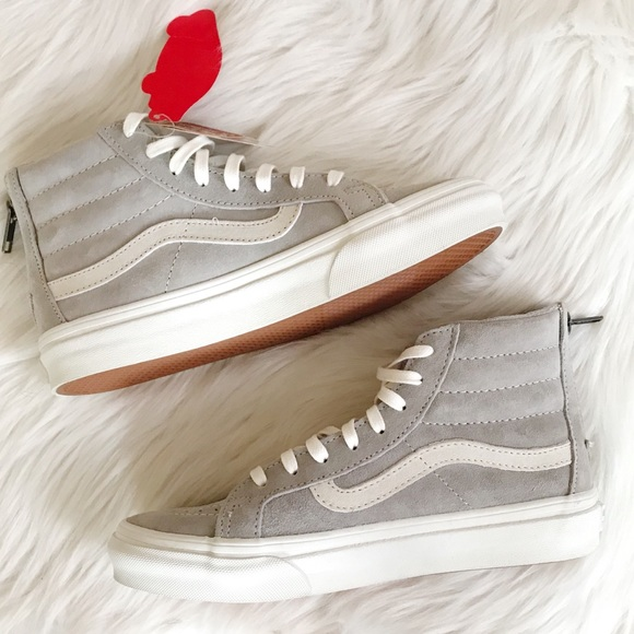 Vans Shoes   Nwt Light Grey Suede High